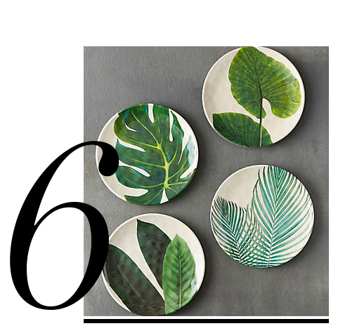 Tropical-Foliage-Melamine-Plate-Anthropologie-top-10-miami-inspired-decor