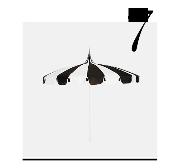 Pagoda-Patio-Umbrella-Black-White-CALIFORNIA-UMBRELLA-top-10-miami-inspired-decor