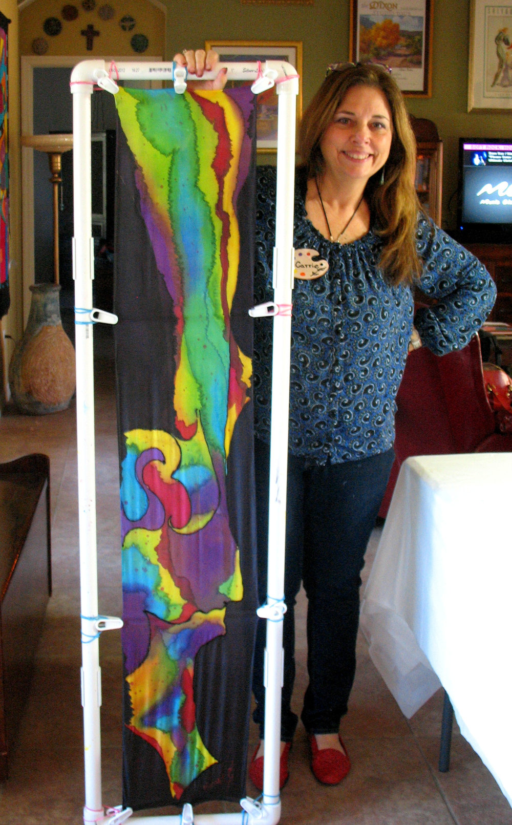 Carrie Knaupp and finished silk piece (1).jpg