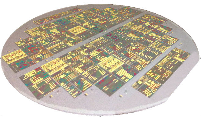 Figure 1: An InP integrated photonics multi-project wafer from Smart Photonics