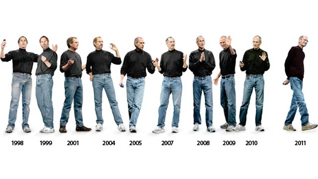 """A perfect, and perhaps a little extreme example of someone avoiding decision fatigue is seen here in how Steve Jobs created a """"uniform"""" look for himself. I'm not advocating this particular version of decision fatigue avoidance, but whatever floats your boat I guess."""