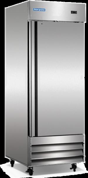 Restaurant Kitchen Refrigerator norpole 1 solid door upright reach-in refrigerator — st. charles