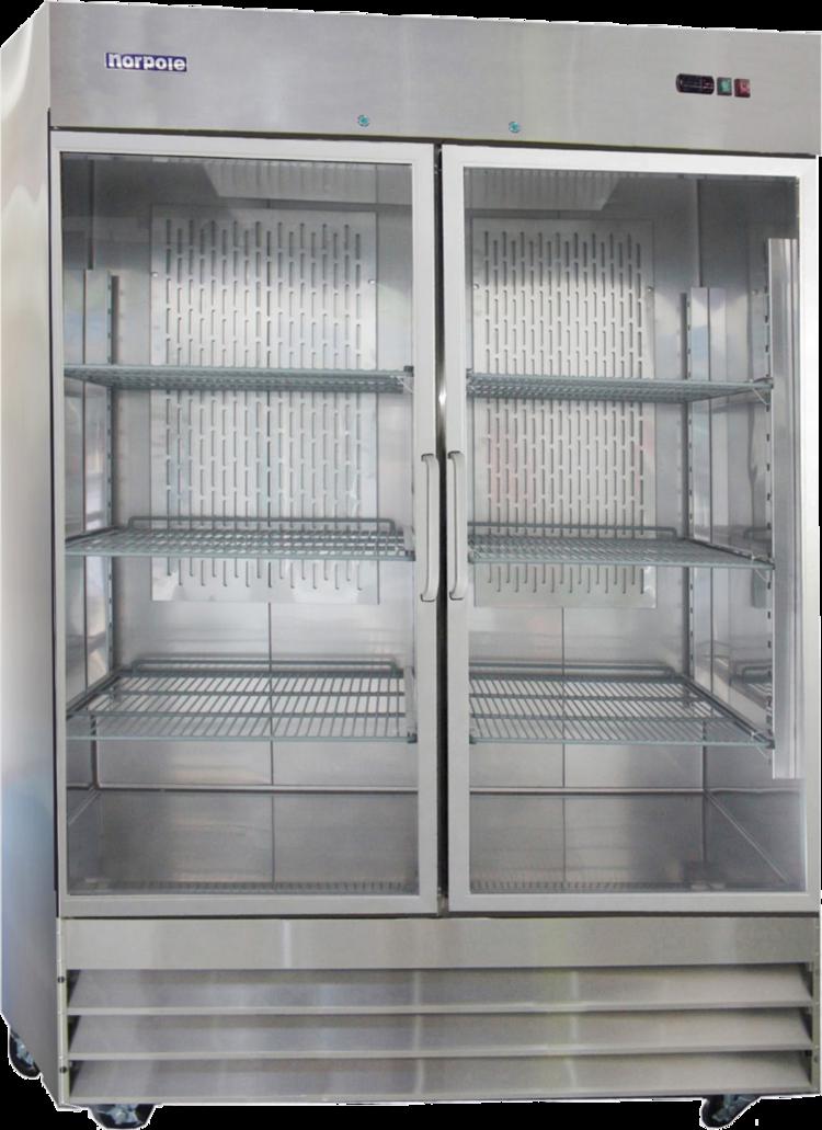 2 Glass Door Upright Reach In Refrigerator St Charles Restaurant