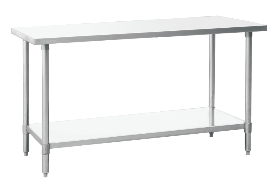 Stainless Steel Work Tables With Undershelf Inch Depth St - Stainless steel work table with shelves