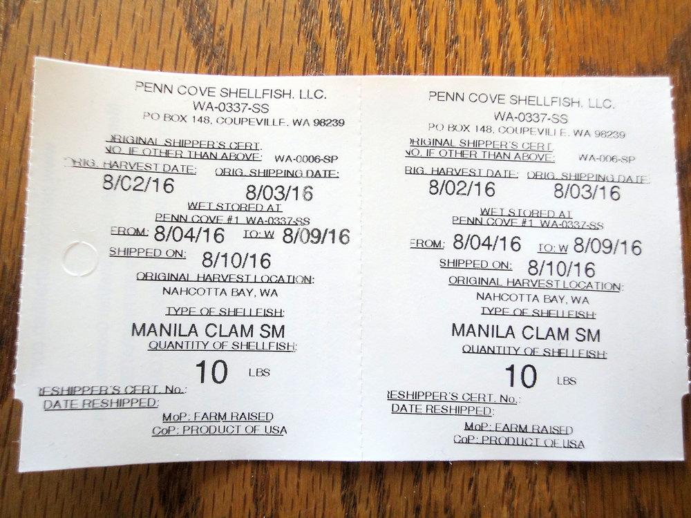 Manila Clam Tag