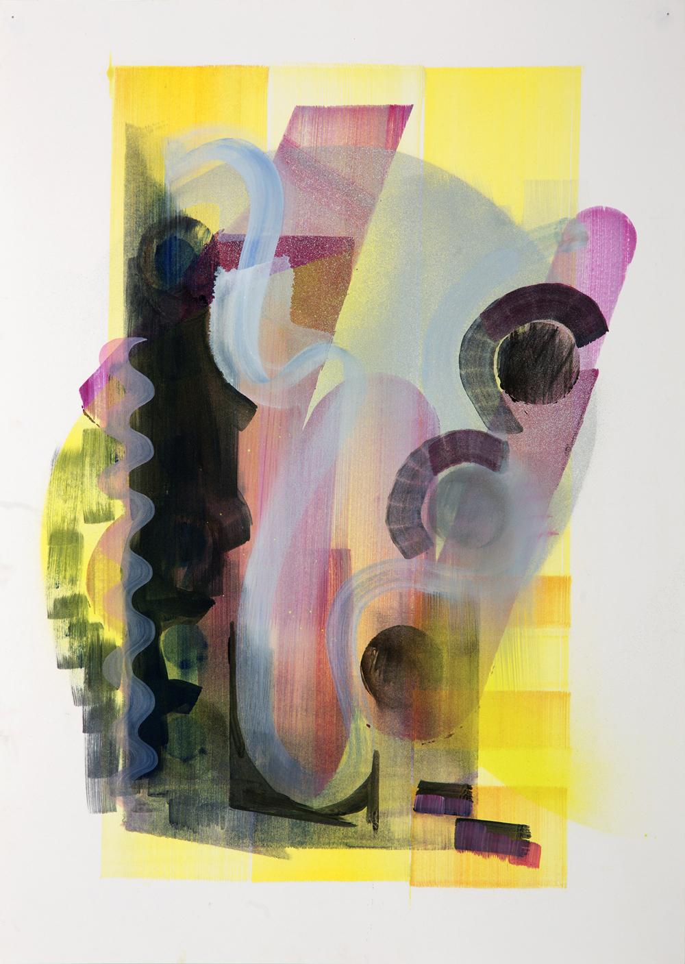 Undergrowth, 2015, oil on paper, 59cm x 42cm