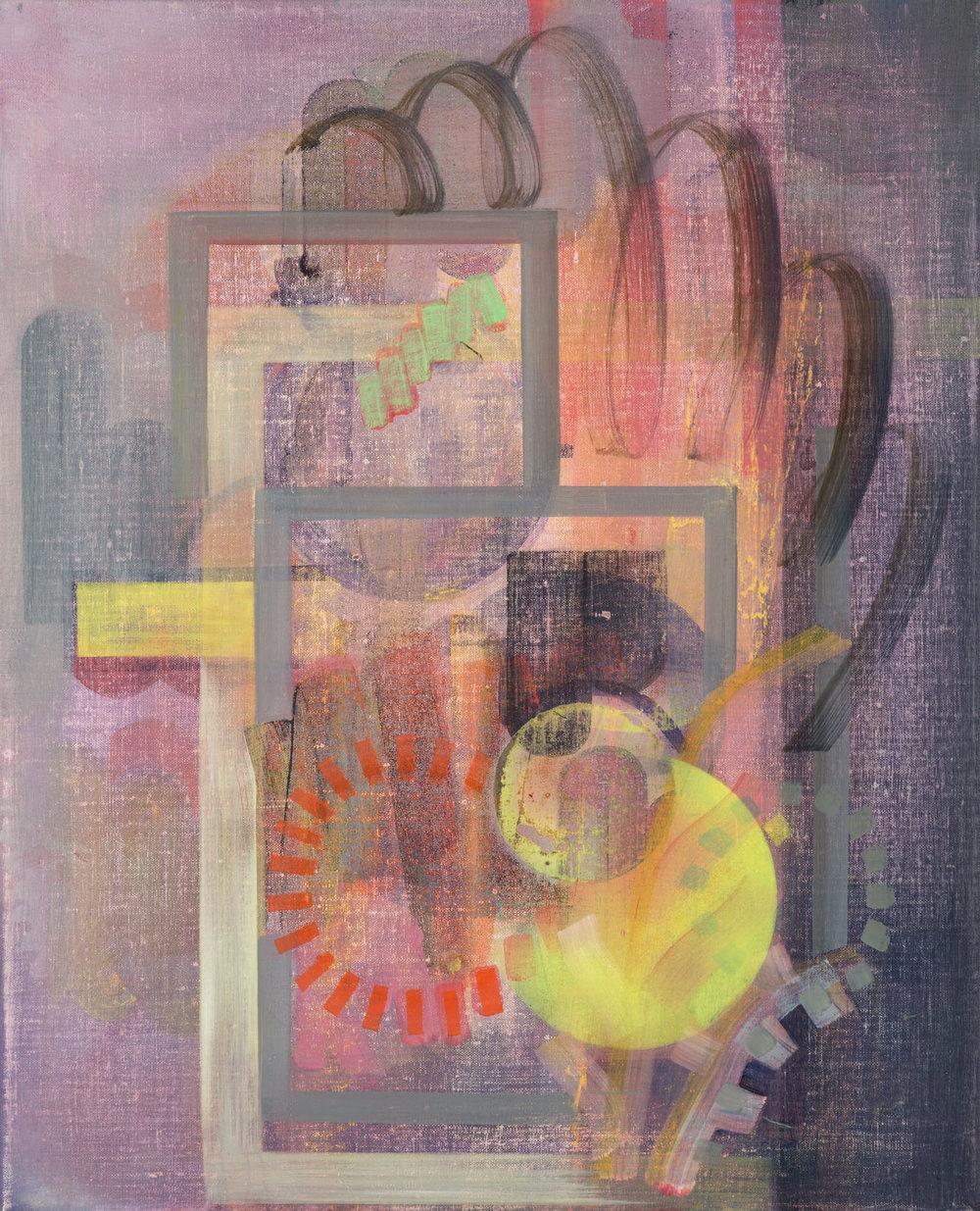 Frames, oil on linen, 50cm x 40cm, 2016
