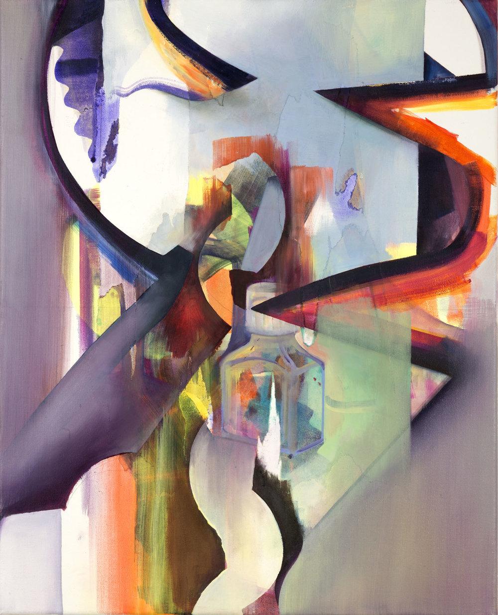 Untitled 19, oil on linen, 50cm x 40cm, 2018