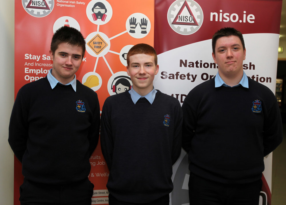 TY students who took part in NISO quiz in Athlone