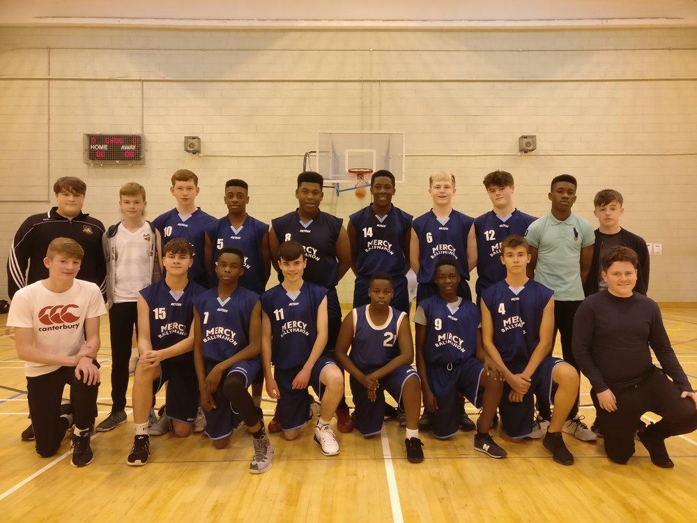 U16 boys basketball team