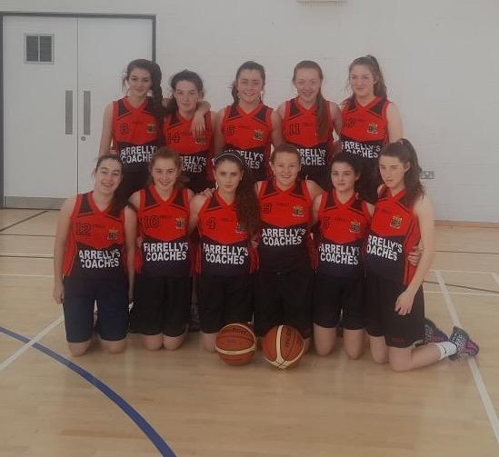 U16 basketball girls team