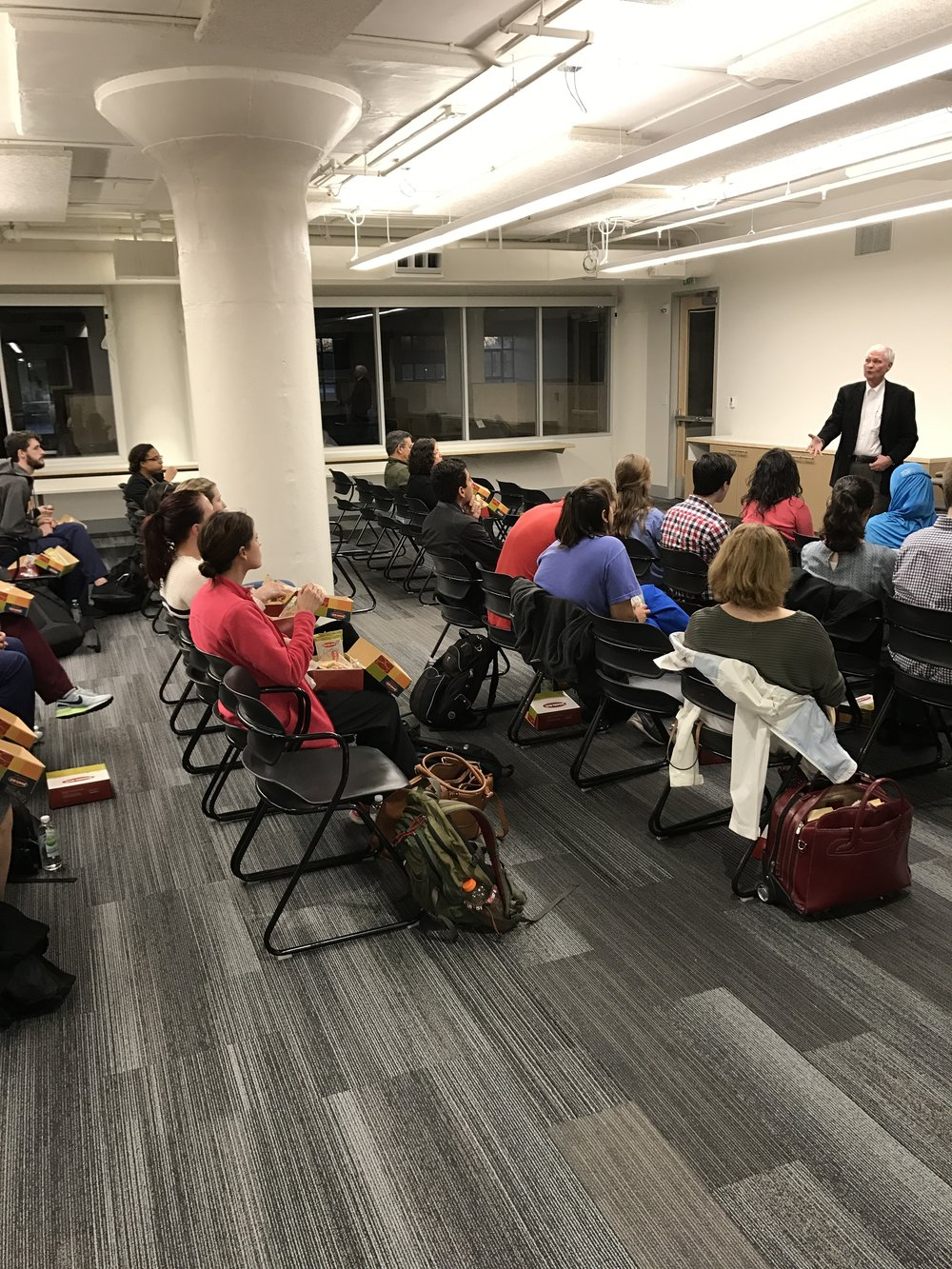 Dr. Scott Morris, CEO of Church Health, speaks to students on night one of Serving The Underserved, held at Crosstown Concourse.