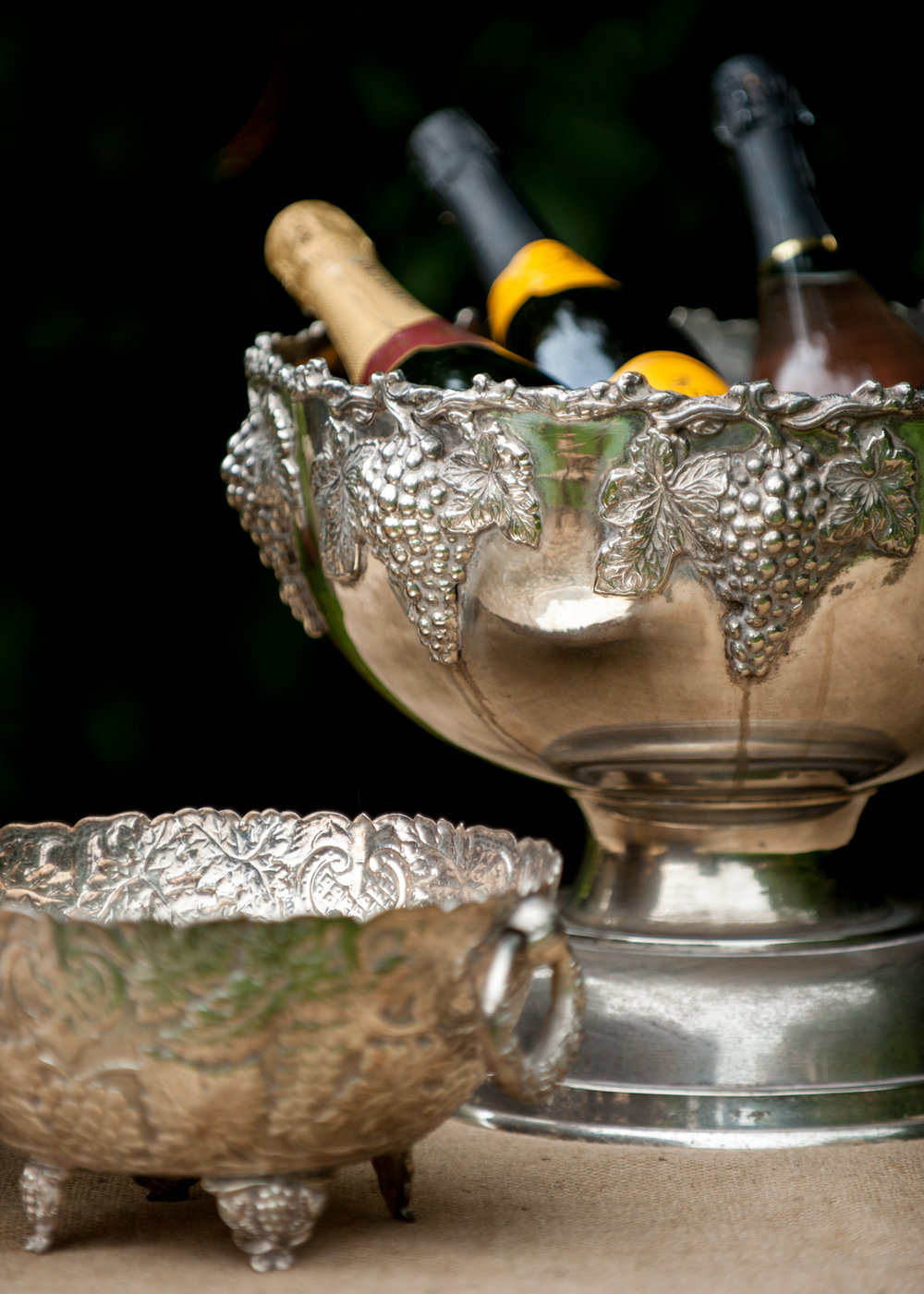 Champagne Bowls and Buckets
