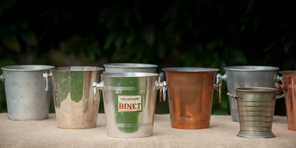 Silver and Copper Champagne Buckets