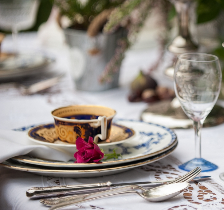 Antique Tea Party with Roses