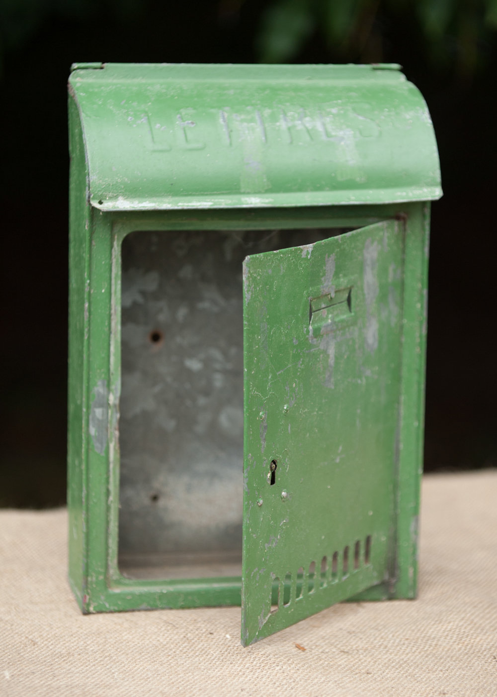 Old French postbox to be used as a card or message box - £5