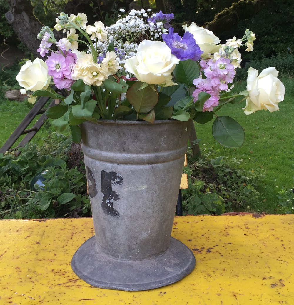 Vintage French Florist Buckets