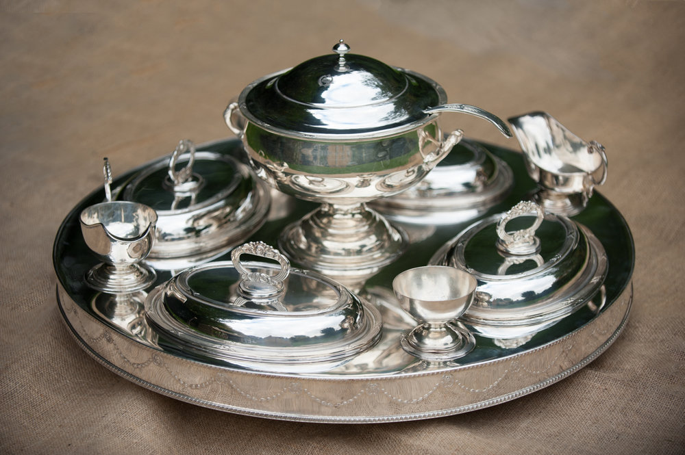 Stunning silver plated lazy Susan - would make amazing centre piece for vintage wedding
