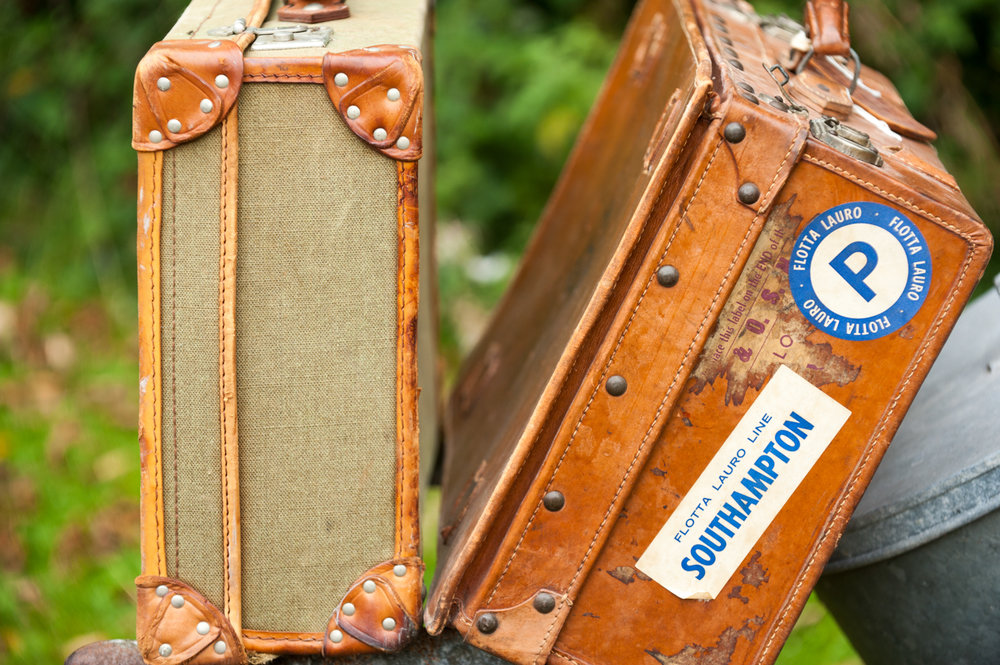 Wonderful vintage suitcases