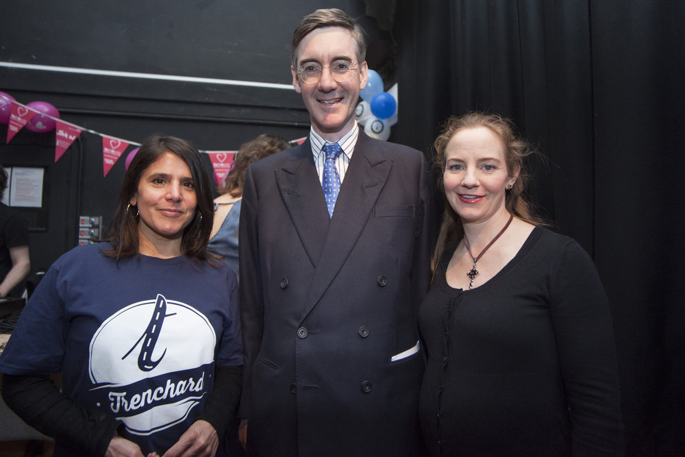 Justine Rebello, Jacob Rees-Mogg, and Helena Rees-Mogg