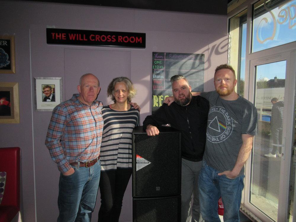 Paul, Lesa, Marcus Coombs and Dan Flitcroft