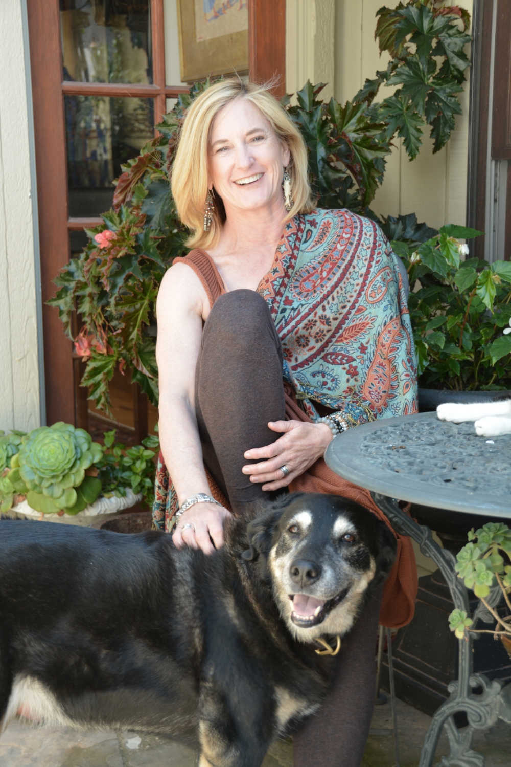 Martha with her dog Hala, named for the Nantahala River that stole her heart in Western North Carolina.