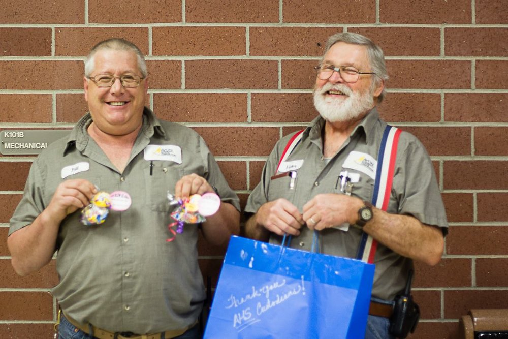 Custodial staff members receive some Kappa Kindness!