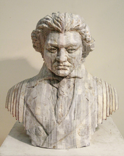 "Long-Bin Chen, ""Beethoven"", 2012, Books, 26 x 23 x 9 inches"