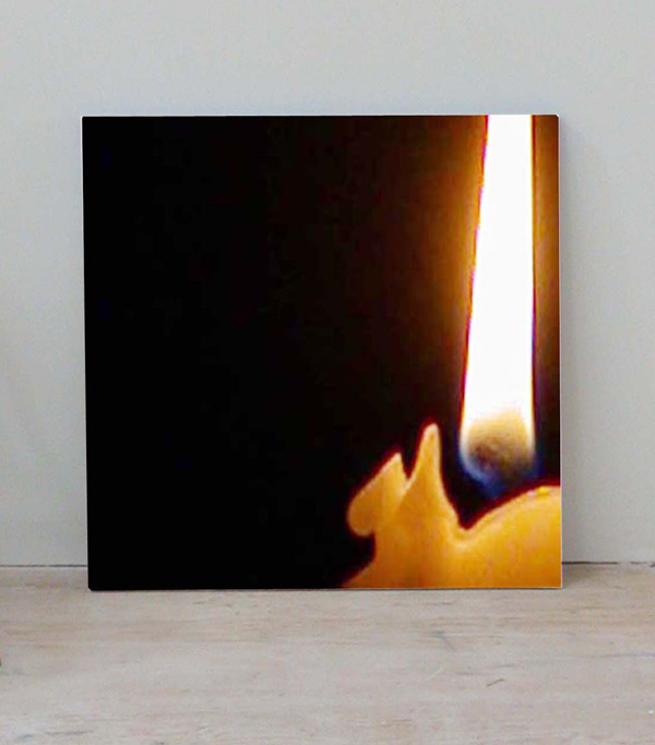 "Broughel, ""Broken Flame #2"", 2008, 30 x 30 inches"