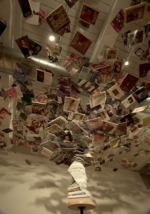 "Long-Bin Chen, ""Buddha Hurricane"", 2006, Magazines, Dimensions Variable"
