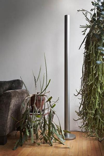 Jackie Ferrara, Pipe Lamp, 2013, Stainless Steel, 76 x 11 x 11