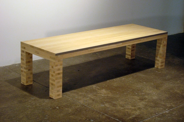 Jackie Ferrara, Coffee Table, 2007, Wood, 16 x 60 x 20 inches, Edition 1/3