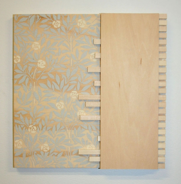 "Kirsten Nelson, ""Governors Island, (Nolan Park - Interior)"", 2010, Plywood, wood 8"" x 8"" x 1/2"""