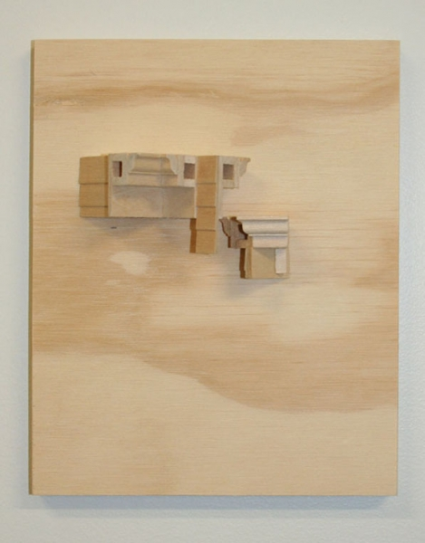 "Kirsten Nelson, ""Governors Island (Nolan Park – Exterior)"", 2010 Plywood, wood 6"" x 7 ½"" x 1 ¾"""