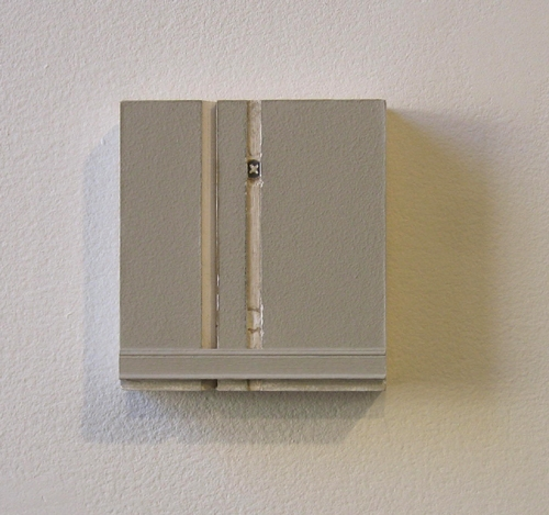"Kirsten Nelson, ""Faithfully Yours Hillside No. 21"", 2010, drywall, plywood, paint, spackle, wood trim, crew, 5 x 4 1/2 x 1 inches"
