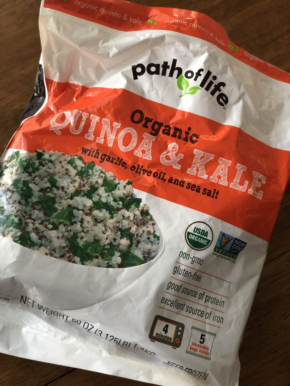 - Quinoa Time saving Idea: Path of Life Organic Quinoa & Kale from CostcoGluten Free & in 5 steam bags!