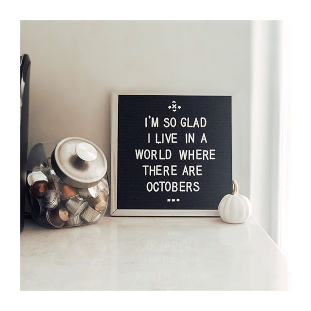 Hello October! 👋🏼🍂 We're so excited for cooler weather! We will be on maternity leave soon so go ahead & get those Christmas orders in! Use code: FALL10 for 10% off through October. 🧡 #hellooctober #fallishere #bestmonth #fallsale #handlettering #letterfolk #letterboard #colbieandco