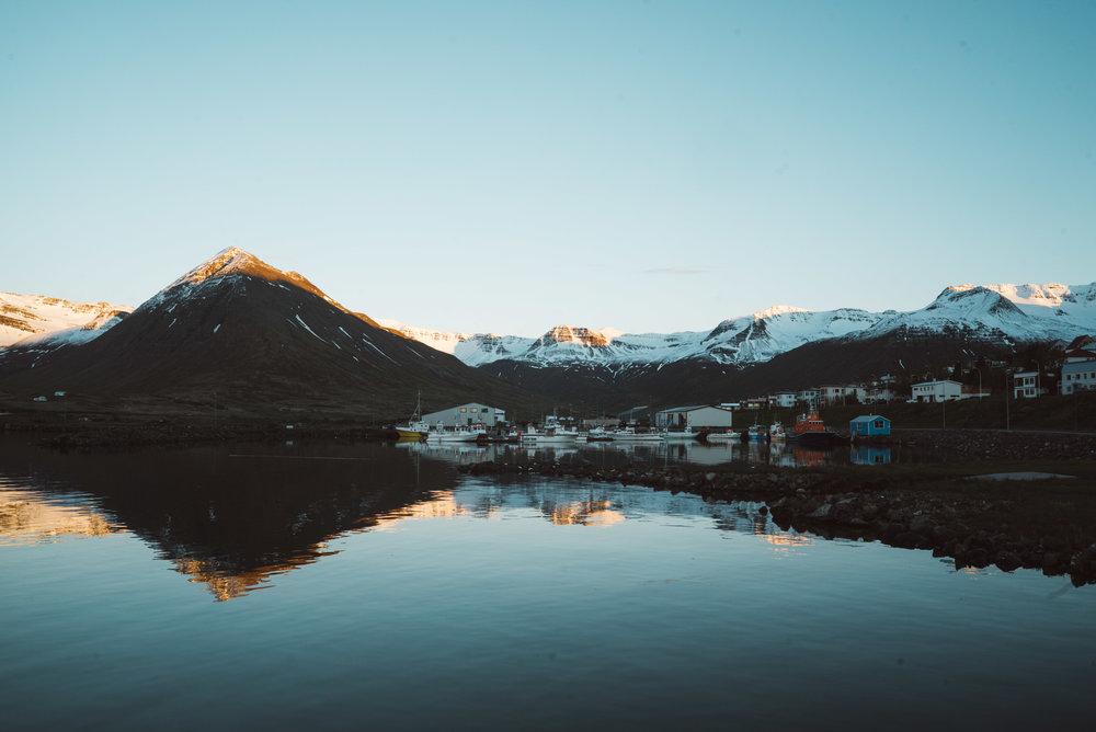 Siglufjörður,North Iceland. June 10th 2017, 11:30 PM