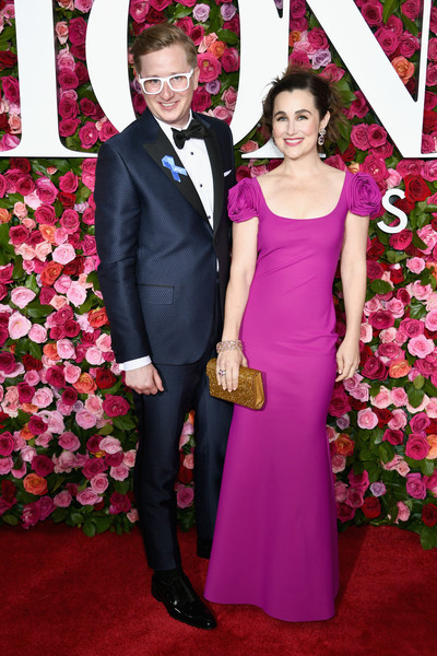 With wife Lauren Worsham on the Tony Awards red carpet. Getty Images.