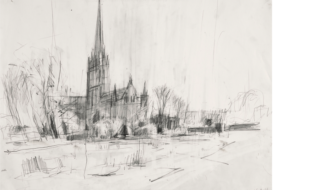 "After Constable's ""Salisbury Cathedral across the Meadows"" Guildhall, London I"