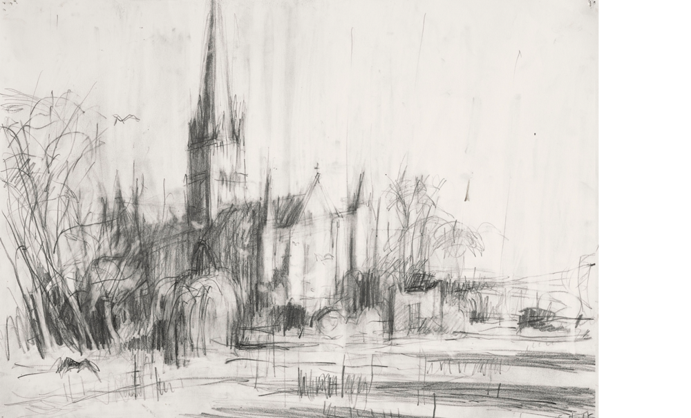 "After Constable's ""Salisbury Cathedral across the Meadows"" Guildhall, London II"