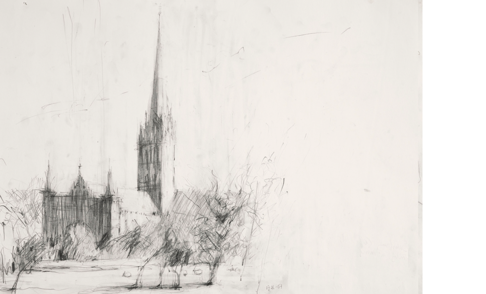 "After Constable's ""Salisbury Cathedral across the Meadows"" Guildhall, London IV"