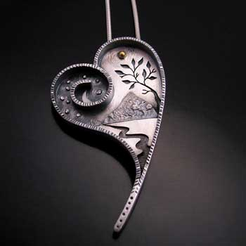 Journeys of the Heart pendant by Michele Throne, Sidhe Designs