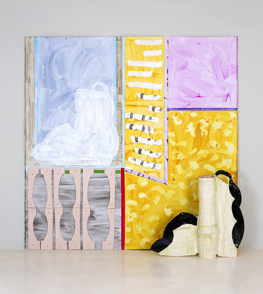 The Yellow Room (2015)  Combining ceramic forms with paintings was one of Betty's hallmarks.