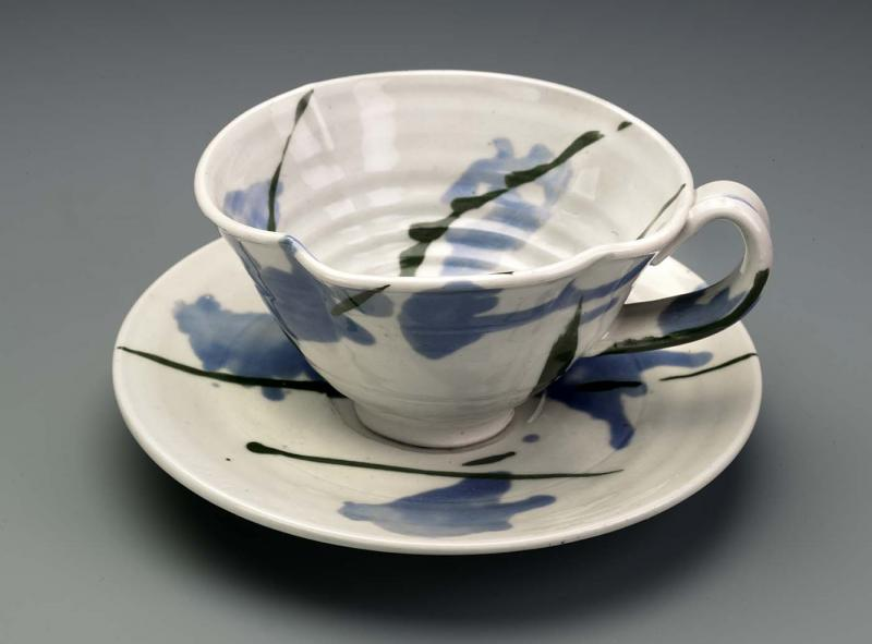 Teacup and Saucer (1980)  This porcelain set is now at the Smithsonian American Art Museum.