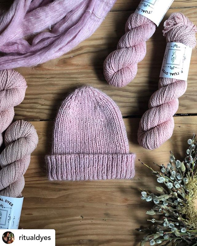 Hi Everyone! We apologize for the social media hiatus. We have been busy developing projects with some really exciting companies. We want to play catch up and show you what we've been up to. We developed a beautiful color palette with @ritualdyes . Pictured here is Quartzite, offered in both worsted and fingering weights.
