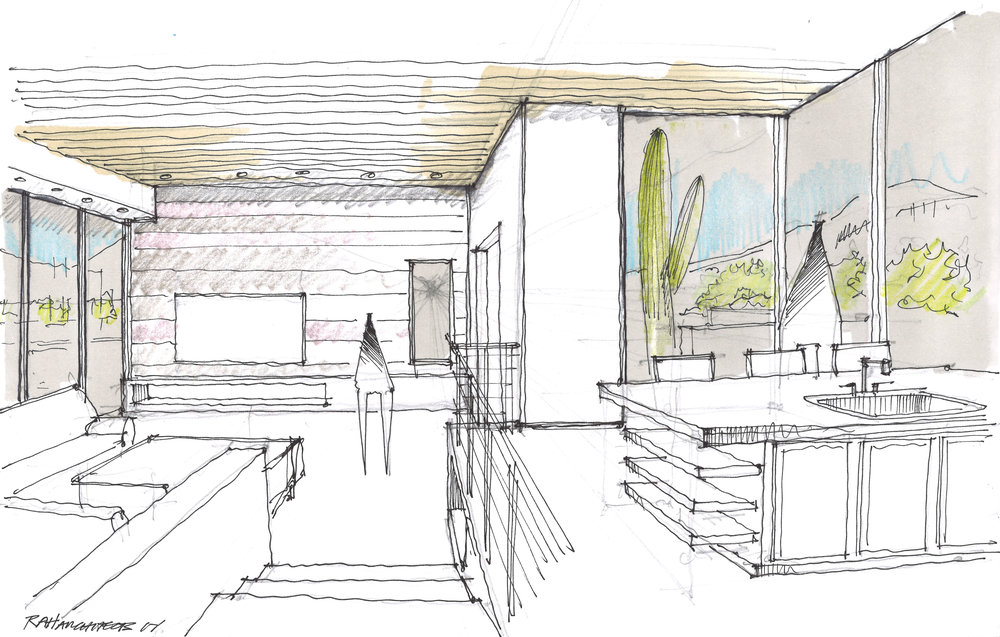 Sabino Residence - Interior Perspective