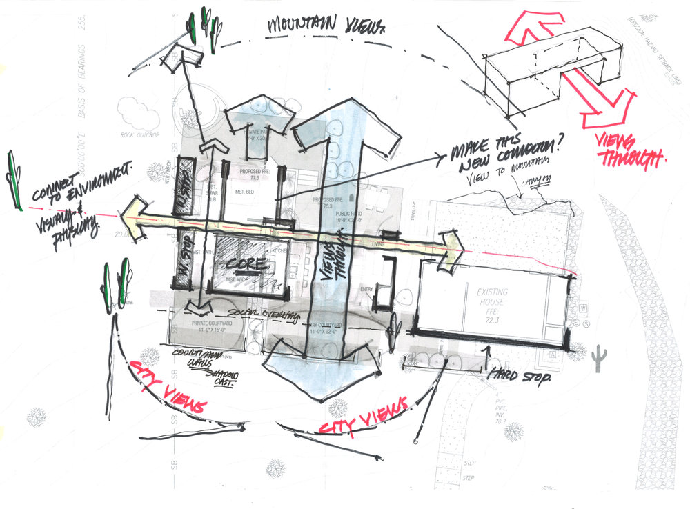 Sabino Residence - Design Development Sketch
