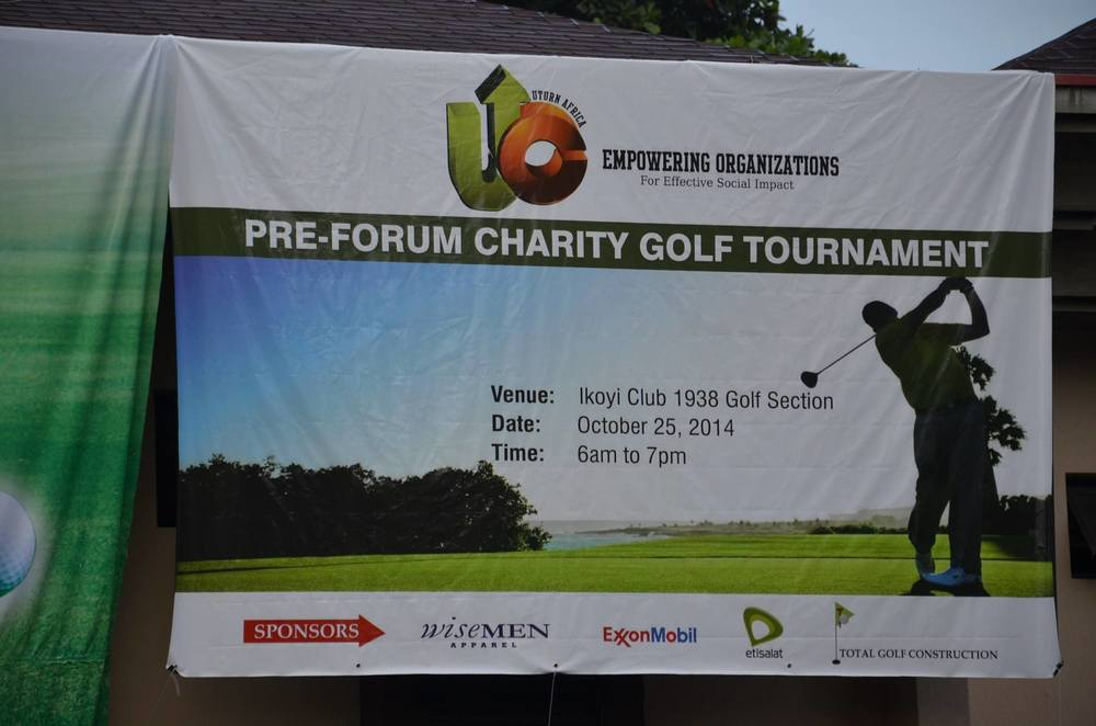 Grateful to Our Sponsors Exxon Mobil; Total Golf Construction; Wisemen and Etisalat. Thanks to our media partner Forbes Africa! We appreciate you all!