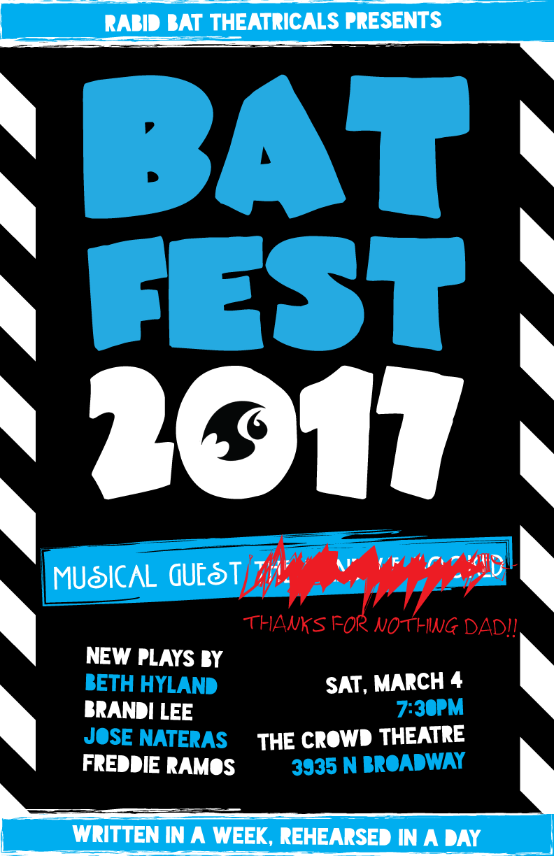 - Beth's play Stevie & Stevie & Dorothy was part of Rabid Bat Theatricals' Bat Fest 2017.